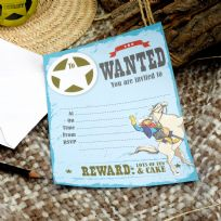 Wild West Cowboys Invitations (10)